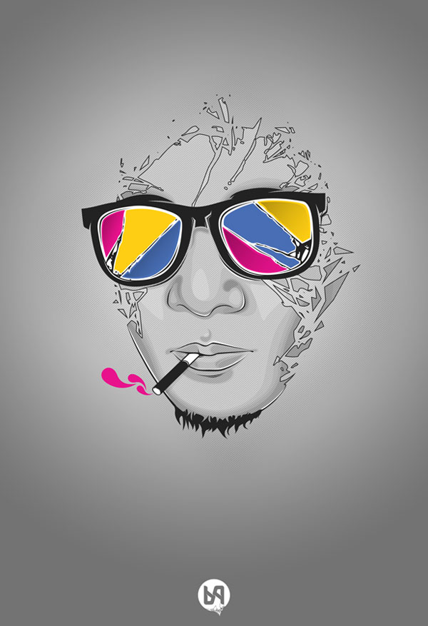 Cool Vector Art Portraits – Web & Graphic Design On Bashooka