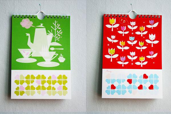 55 Cool & Creative Calendar Design Ideas For 2013 Web