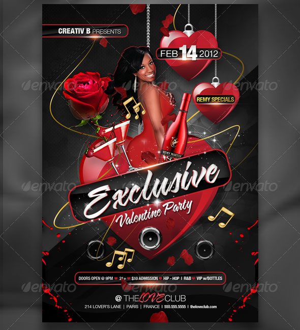 40 Sexy Valentines Flyer Templates Web & Graphic Design