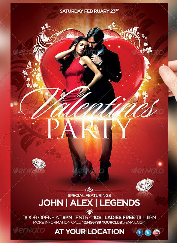 40 Sexy Valentines Flyer Templates  Web  Graphic Design  Bashooka