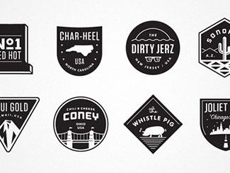 130 inspiring emblem badge