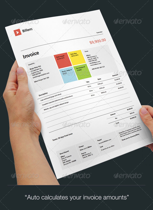 20 Creative Invoice  Proposal Template Designs  Web  Graphic Design  Bashooka