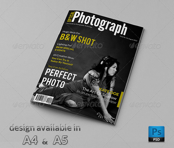 50 InDesign & PSD Magazine Cover & Layout Templates – Bashooka