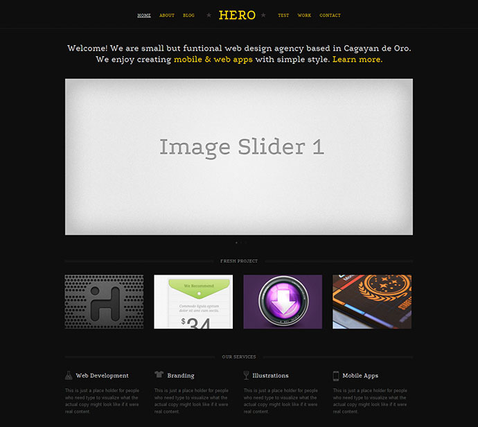Hero - A Responsive Single Page Template
