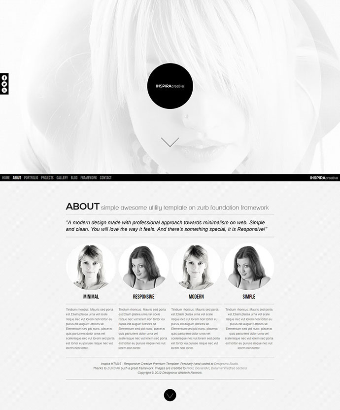 Inspira HTML5 Responsive One Page Template