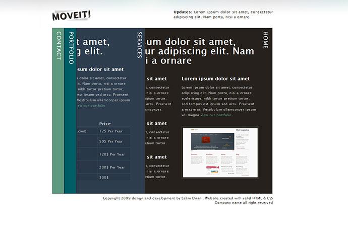 Moveit - single page creative portfolio