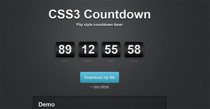 15 jQuery  CSS3 Countdown Timer Scripts  Web  Graphic Design  Bashooka