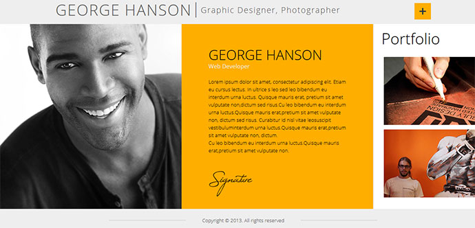 50 Professional HTML Resume Templates Web & Graphic Design