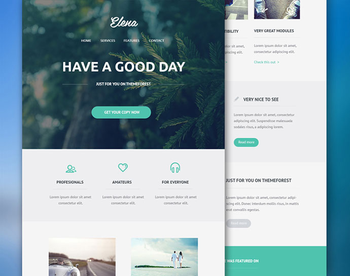 6 Free Email Newsletter PSD Templates  Web  Graphic Design on Bashooka