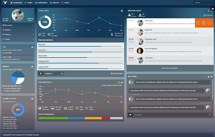 25 Modern Flat Admin Dashboard Templates  Web  Graphic Design  Bashooka