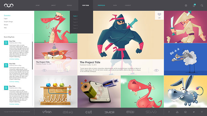 8 Creative Free Portfolio PSD Web Templates – Web