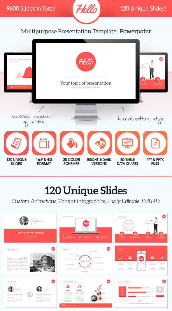 15 Flat Powerpoint Presentation Templates | Web & Graphic Design ...