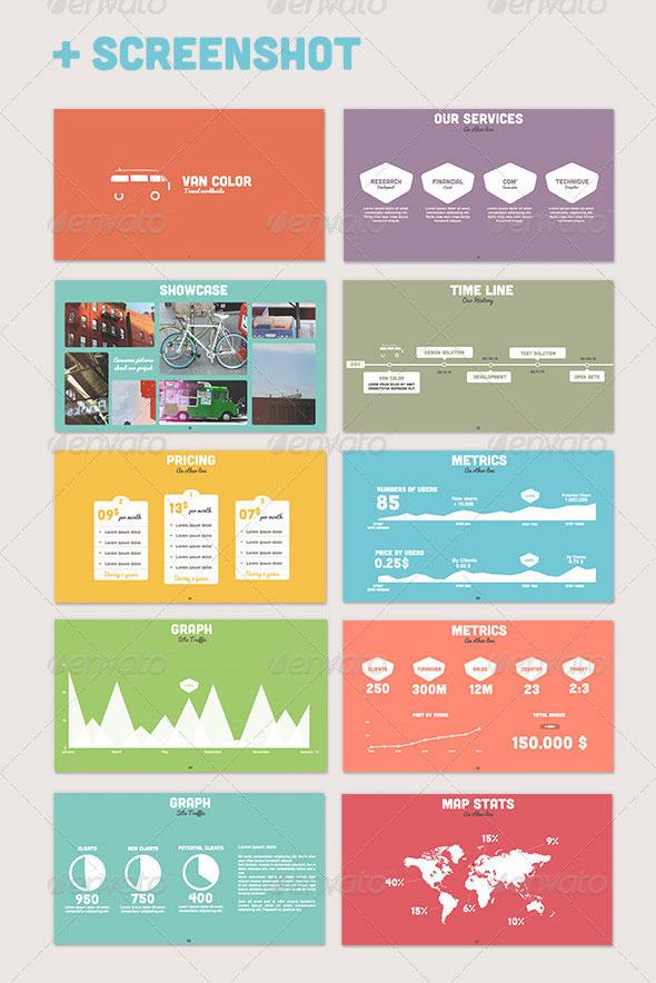 15 Flat Powerpoint Presentation Templates Web & Graphic