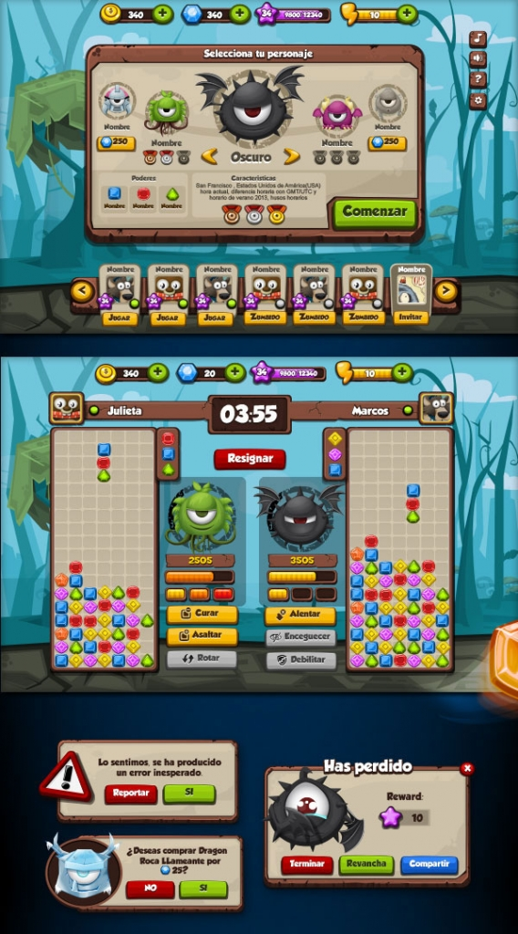 20 UI Design Examples From Mobile Games Web & Graphic
