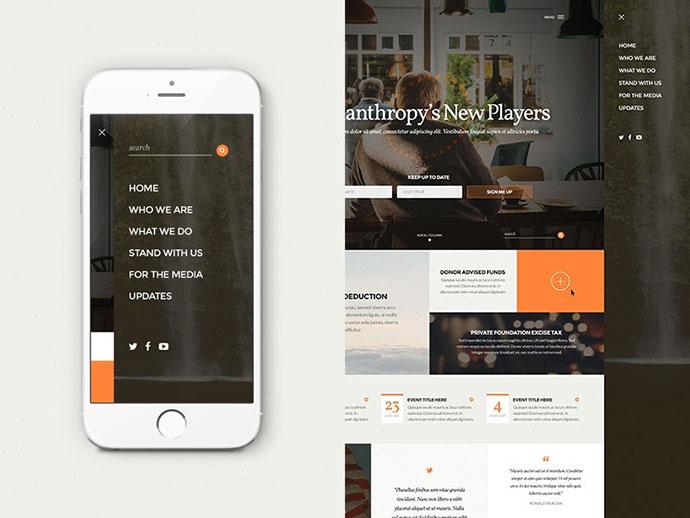 30 Brilliant Mobile Navigation Menu Design Concepts Web