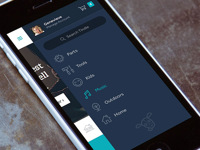 30 Brilliant Mobile Navigation Menu Design Concepts Web