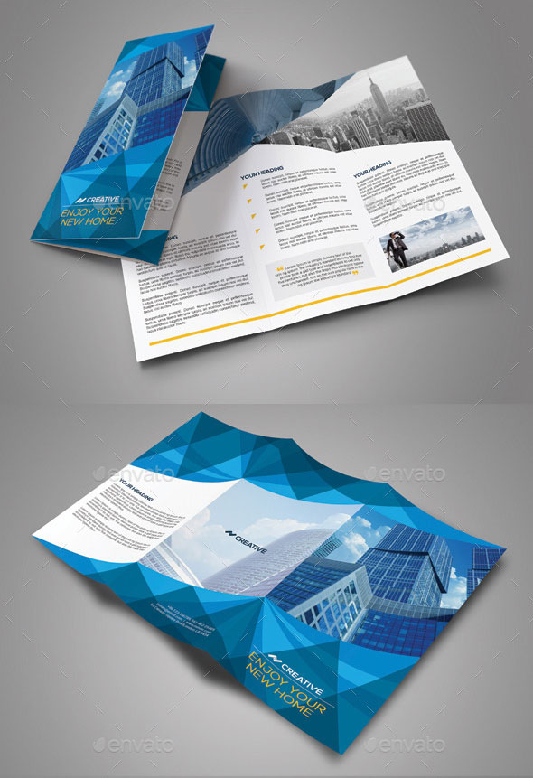 trifold brochure size