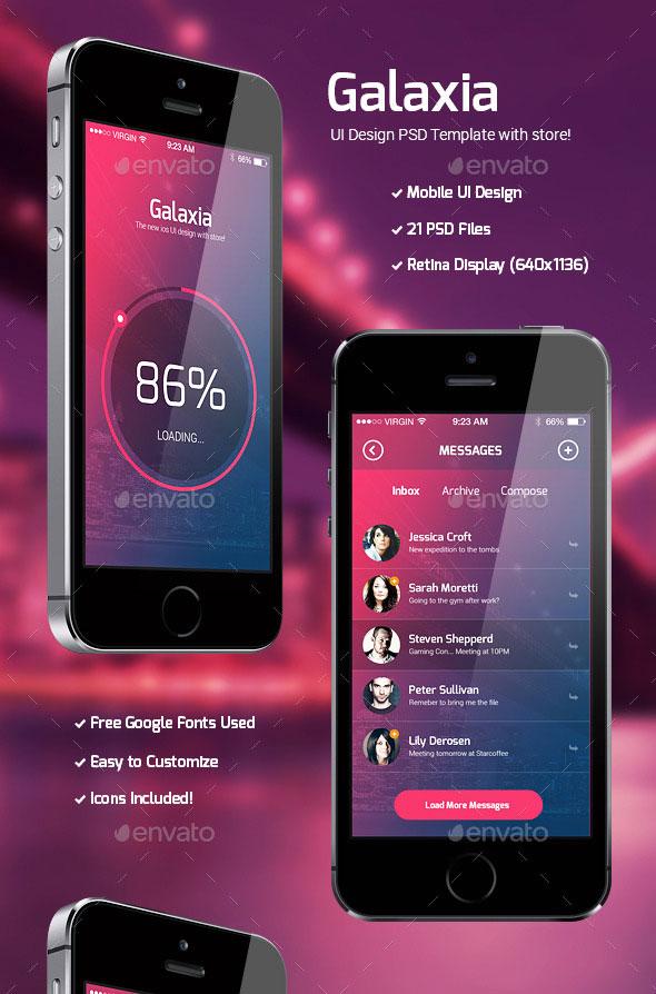 40 Awesome Mobile App UI PSD Templates Bashooka