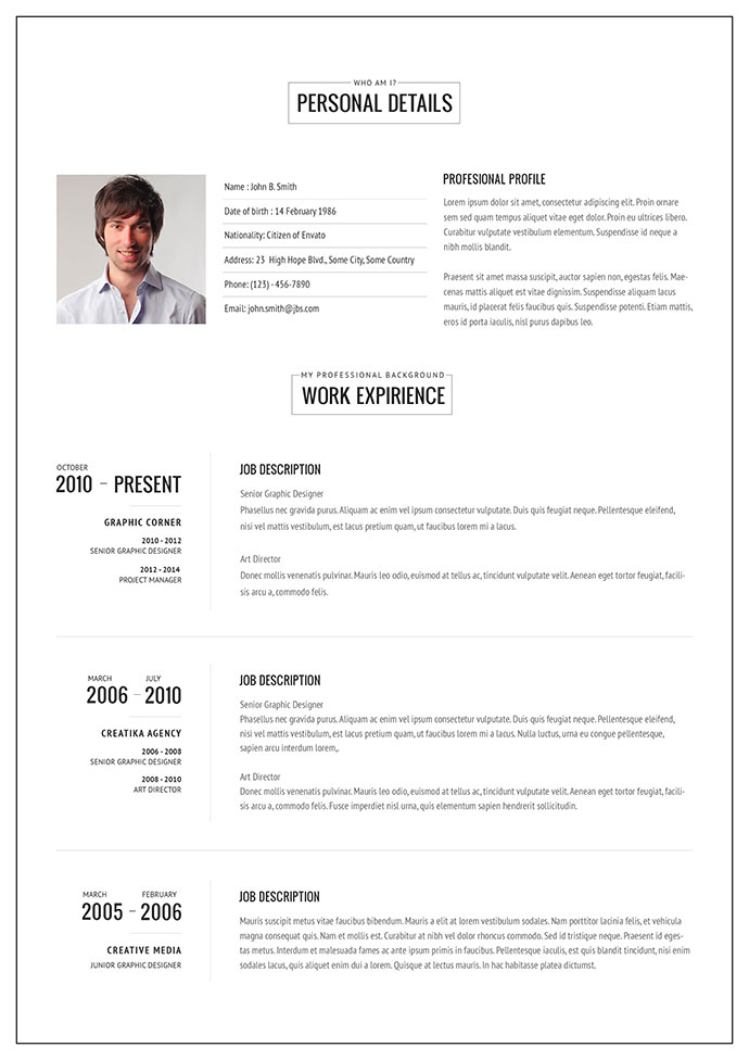 20 Intriguing Online Resume Templates Web & Graphic