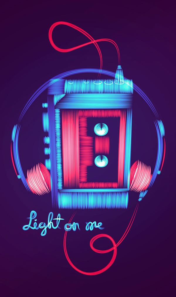 New 3d Hd Wallpaper Free Download 25 Bright Amp Funky Neon Typography Designs Bashooka