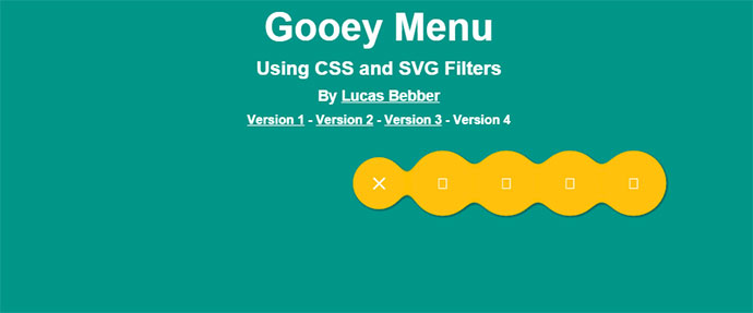 gooey menu