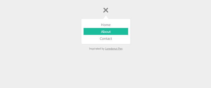 Menu Toggle button with flat menu