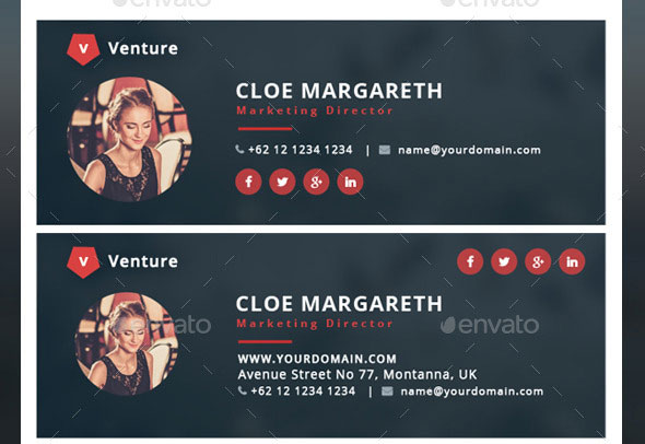 15 Awesome Email Signature PSD Templates Web & Graphic