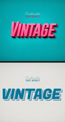 Vintage Retro Text Effects Col 8