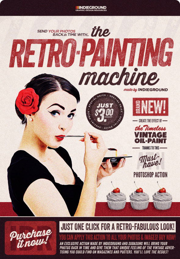 Retro Painting Machine - Vintage Effect Action