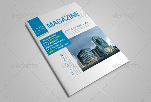 download magazine template