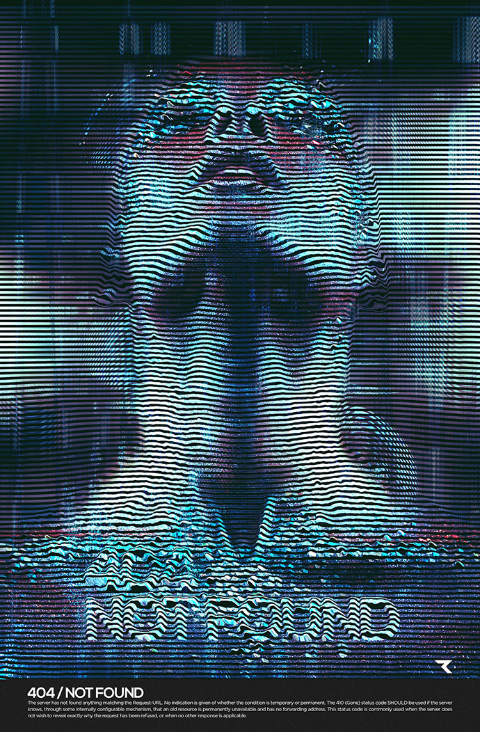 25 Amazing Examples Of Glitch Typography  Web  Graphic Design  Bashooka