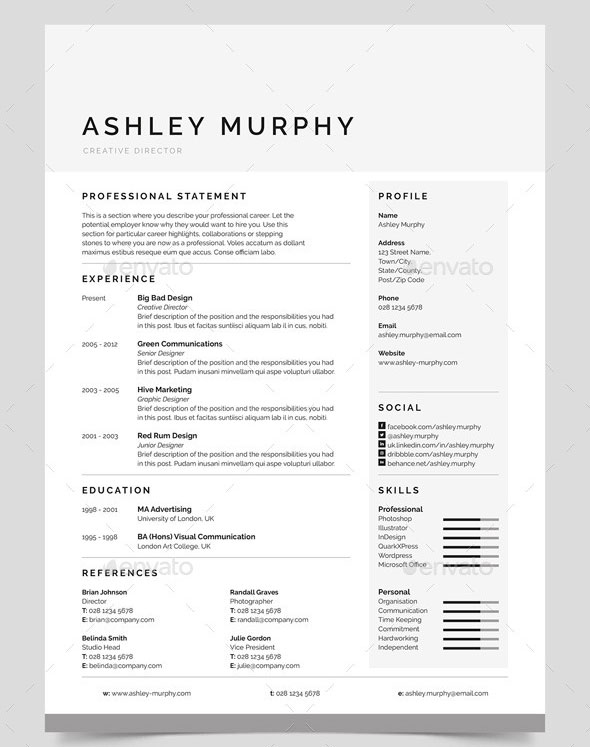 30 Best Resume Template Designs 2015 Web & Graphic