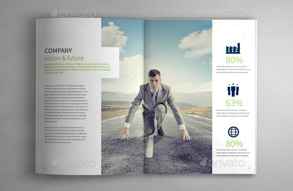 40 Best Corporate InDesign Annual Report Templates – Web