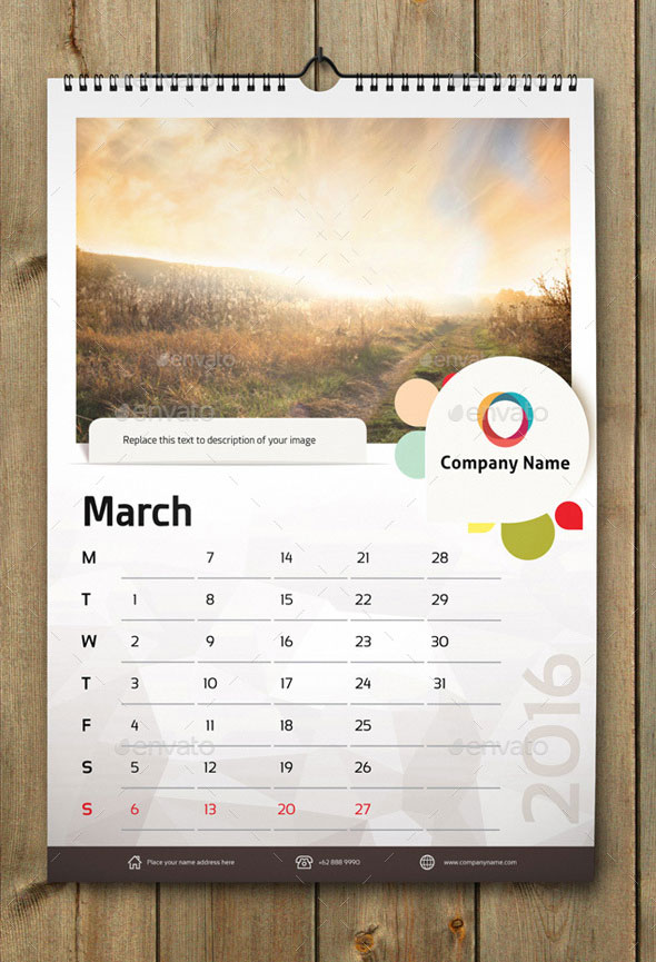 21 Best Calendar Templates For 2016  Web  Graphic Design