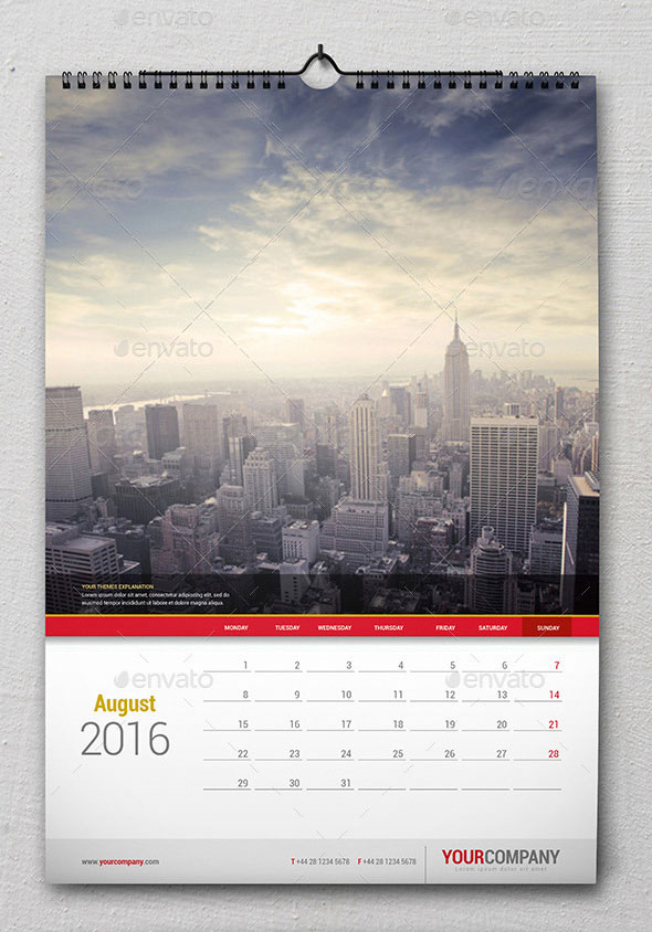 picture calendar template