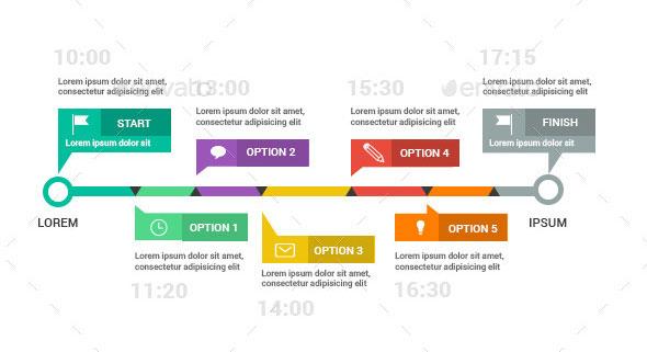 25 Amazing Timeline Infographic Templates Web & Graphic