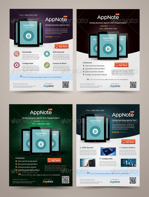 30 Effective Web & Mobile Apps Flyer PSD Templates – Web