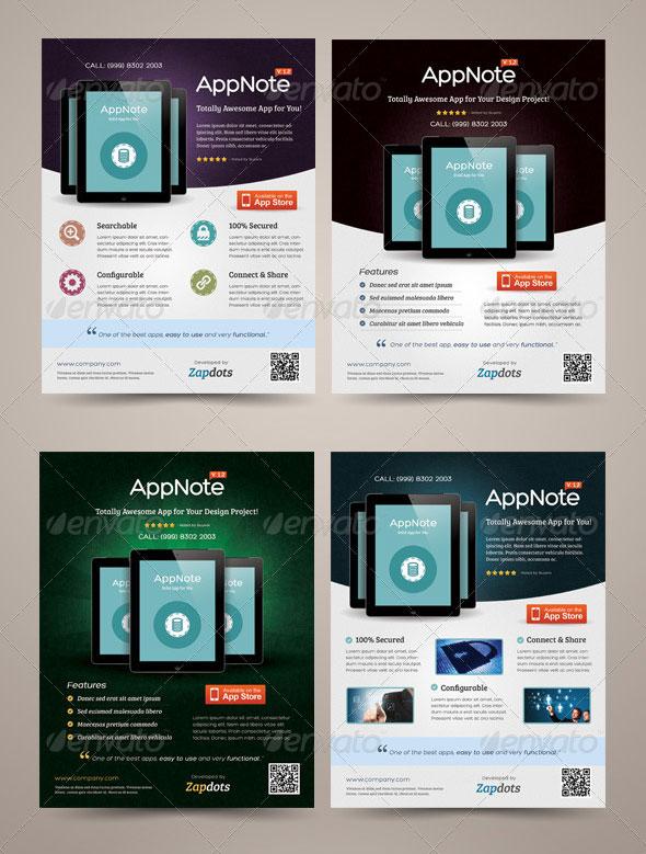 30 Effective Web  Mobile Apps Flyer PSD Templates  Web  Graphic Design  Bashooka