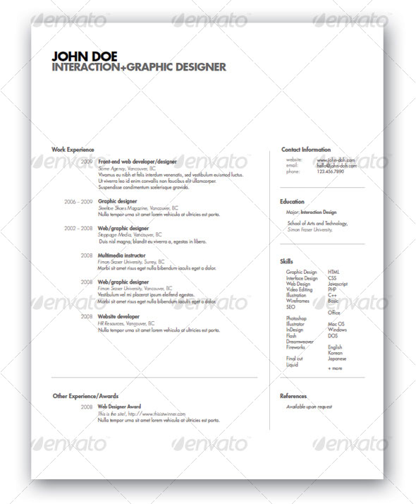 best templates design resume
