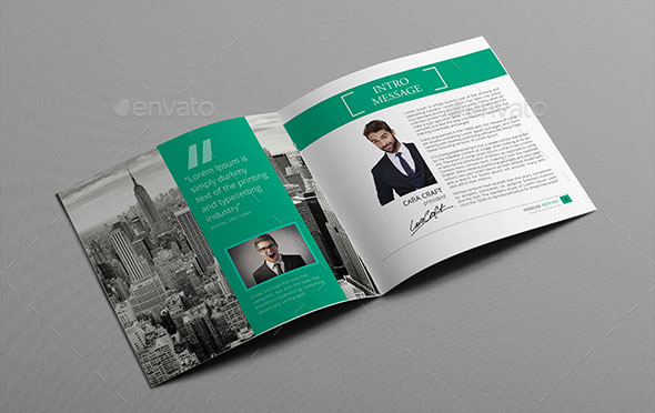 21 Striking Square Brochure Template Designs Web