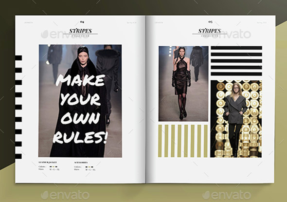 20 Gorgeous InDesign Lookbook Template Designs – Web