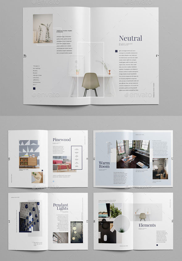20 Gorgeous InDesign Lookbook Template Designs  Bashooka