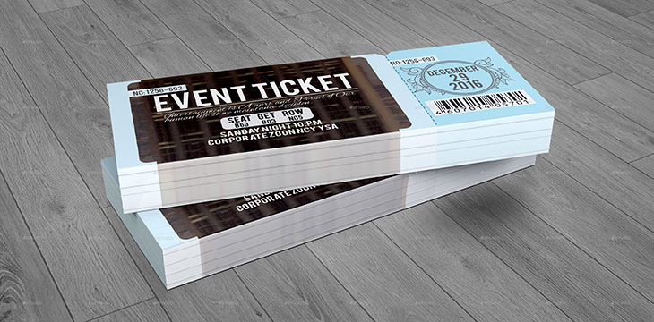 25 Awesome Ticket Invitation Design Templates  Web  Graphic Design  Bashooka