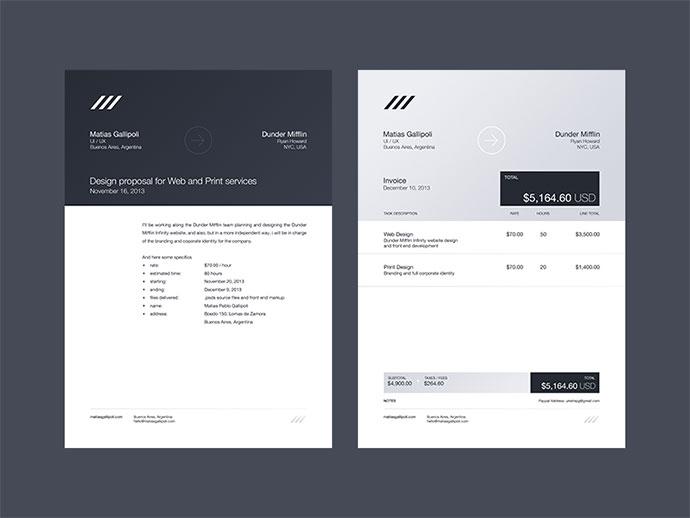 35 Striking Invoice Designs Web & Graphic Design Bashooka