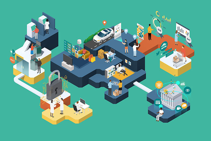 30 Dazzling Examples Of Isometric Designs – Web & Graphic