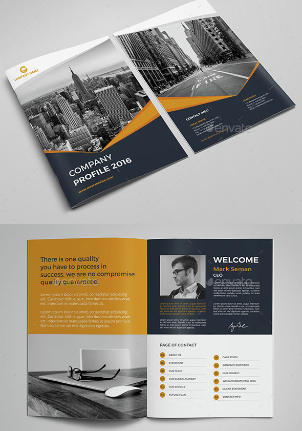 30 Awesome Company Profile Design Templates – Bashooka