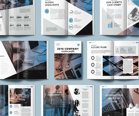 30 Awesome Company Profile Design Templates  Bashooka