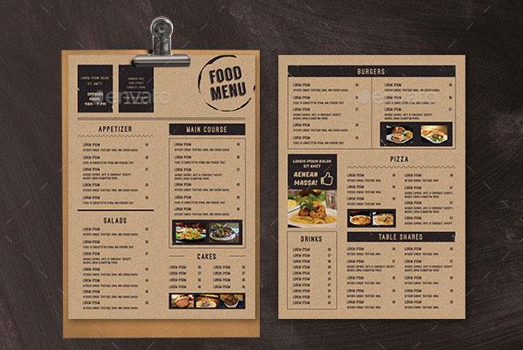 30 Modern Retro  Vintage Restaurant Menu Templates  Web  Graphic Design  Bashooka