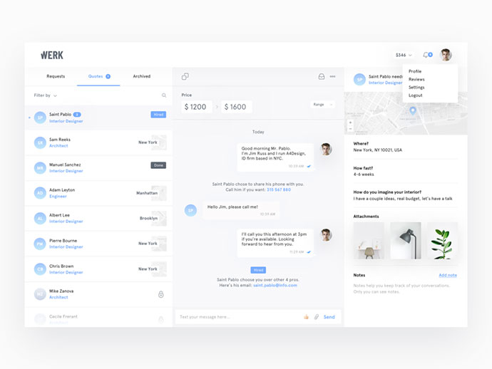 40 Great Chat Dashboard UI Designs