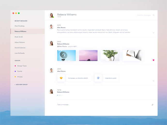 40 Great Chat Dashboard UI Designs – Web & Graphic Design